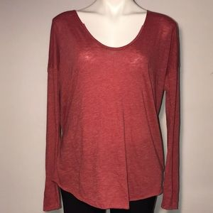 NWT Free People red long sleeve shirt